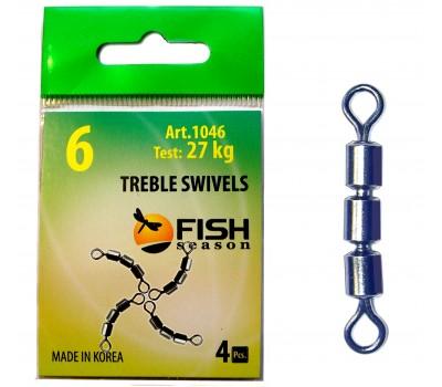 Вертлюжок тройной Treble Swivels 1046 #6