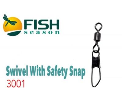 Вертлюжки с застёжкой Rolling Swiwel With Safety Snap 3001 #7
