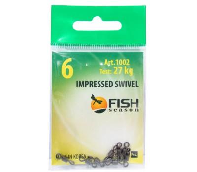 Вертлюг Fish season Impressed Swivel #6