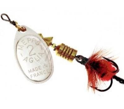 Блесна Mepps Aglia Mouche №2 серебро-красный