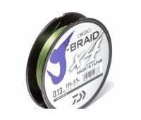 Леска плетёная Daiwa J-Braid x4 Dark Green 0.13мм 135м