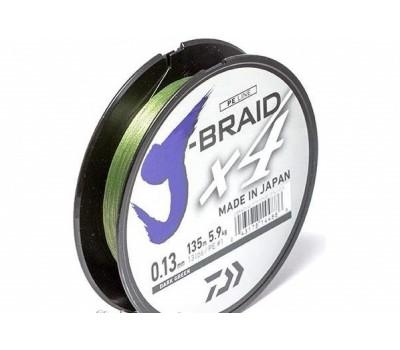 Леска плетёная Daiwa J-Braid x4 Dark Green 0.13мм 135м
