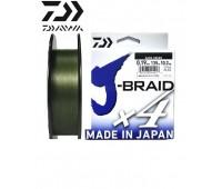 Леска плетёная Daiwa J-Braid x4 Dark Green 0.19мм 135м