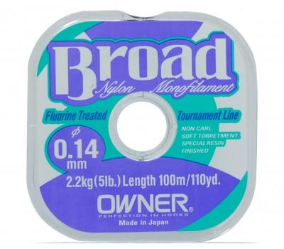 Леска Owner Broad 0.14мм 100м