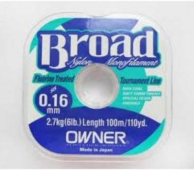 Леска Owner Broad 0.16мм 100м