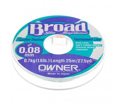 Леска Owner Broad 0.08мм 25м