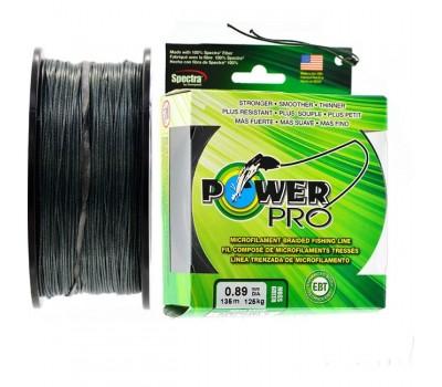 Леска плетёная зелёная Power Pro 0.89мм 135м
