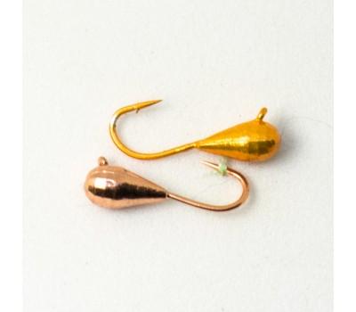 Мормышка «Spider» Капля с ушком мелкая грань гальваника W
