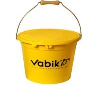 Ведро для прикормки Vabik PRO жёлтое